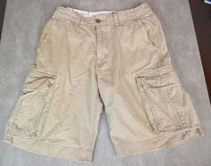 American Eagle Outfitters Men's Longer Length Distressed Cargo Shorts Size 30 #AmericanEagleOutfitters #CasualShorts