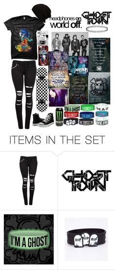 """""""Ghost Town"""" by elshaffer ❤ liked on Polyvore featuring art"""
