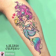 @Regrann from @lilianraya -  Ayer hice mi primera sirena y me emocioné muchooo.  Yol y yo quedamos súper contentas con el resultado.  Muchas gracias por la completa confianza! #mermay #mermaidtattoo #mermaid #mermaidhair #mermaids #sea #cutetattoo #girlytattoo #colortattoo #tattoo #ladytattooers #pinkworkers #fkirons #eternalink #tatsoul #envyneedles #kawaii - #regrann