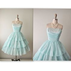 50s Prom Dress // Vintage 1950s Strapless by TheVintageStudio, $124.00