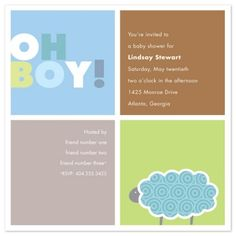 cute simple baby boy shower invitations