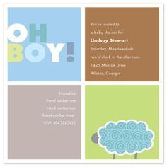 cute simple baby boy shower invitations