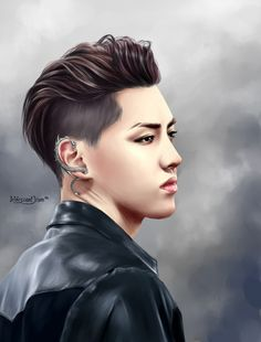 Exo, Kris fanart...Wow...Congratulations to Kris who drew ... was first met the group EXO ...