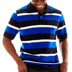 The Foundry Supply Co.™ Striped Piqué Polo Shirt – Big & Tall - jcpenney