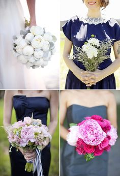 One Fab Day - http://onefabday.com/bridal-dilemma-blue-dress-bouquet/