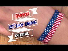 Pulsera de Hilo: Bandera de Estados Unidos (anuncio especial)