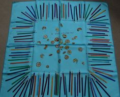 HERMES-SILK-SCARF-A-Vos-Crayons-100-Authentic-in-Box