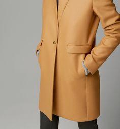Massimo DUTTI   Camel Coat