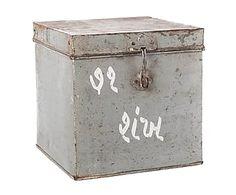 Caja de metal de hierro - gris