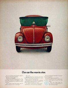 DDB, VW_Ad for the Beetle Herbie, 1969. Volkswagen of America
