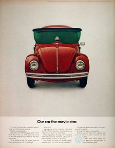 DDB, VW_Ad for the Beetle Herbie, 1969. Volkswagen of America