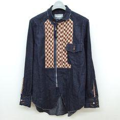 TAKAHIRO MIYASHITA The SoloIst. Cowboy shirts 2 COWBOY SHIRT II s.0532 INDIGO×BORDEAUX size:XS. (Brand new)