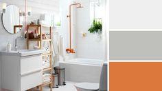 Orange couleur tendance salle de bains