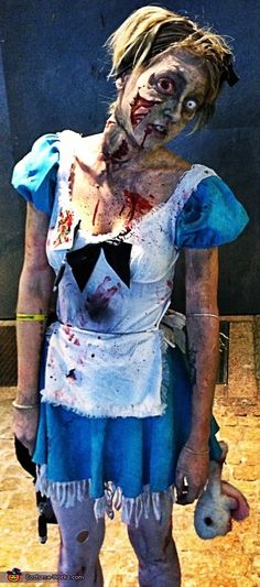 Alice in Zombieland - Halloween Costume Contest via @costumeworks good for @Angela Nichols 's mad hatter tea party!