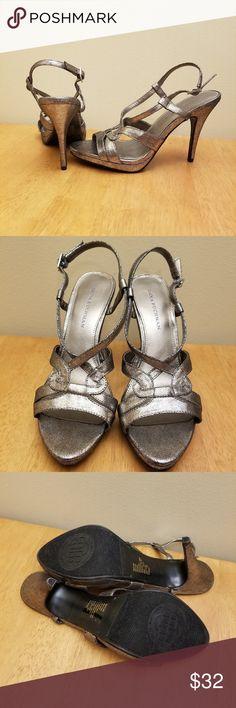 628fb7bf3 I just added this listing on Poshmark  NWOT Dana Buckman Gilman pewter  strappy heels.