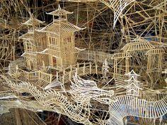 Toothpick art!