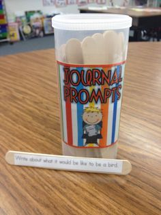 "No more... ""What can I write about""......Journal Prompts!!! I love the tips on how she runs her journal time."