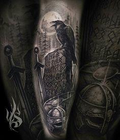 Wicked Tattoos, Badass Tattoos, Body Art Tattoos, Tattoos For Guys, Celtic Tattoo Symbols, Norse Tattoo, Celtic Tattoos, Tattoo Sleeve Designs, Full Sleeve Tattoos