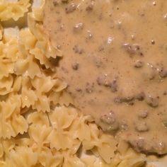 Rezept Hackfleisch mit Zwiebel Käse Soße von meusterin - Rezept der Kategorie Hauptgerichte mit Fleisch