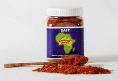 EAST - Berbere: Our Afrikoz Spices blend is a mixture of black pepper, cardamom, chilli, cinnamon, cloves, coriander, cumin, fenugreek, ginger, nutmeg, paprika, pimento, salt and turmeric. $10 each for 1-3 100g jars