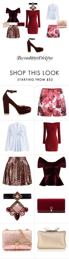 """""""For the love of Red"""" by bernadette-dickson ❤ liked on Polyvore featuring Gianvito Rossi, Moncler Gamme Rouge, Mary Katrantzou, Chicwish, Boohoo, Emilio De La Morena, Erickson Beamon, Louise et Cie, Aspinal of London and Karen Millen"""