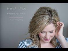 Hair fix: no more flat bangs | The Small Things Blog