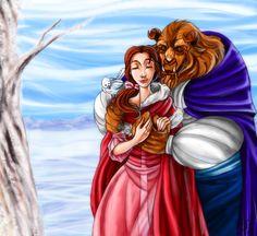 Couples: Belle and Beast by MistyTang.deviantart.com on @deviantART