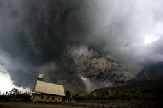 Indonesian rescuers search through thick ash Sunday hoping to find survivors after #Mount_Sinabung #volcano erupted engulfing victims in scorching clouds, killing 16 people including four high-school students.  #Indonesia