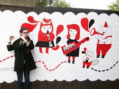 gemma correll mural band london