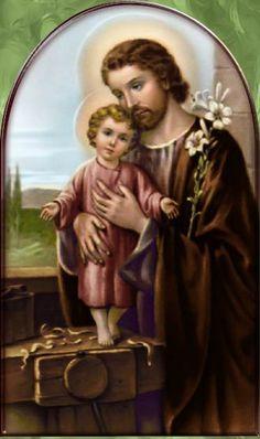 Catholic Art, Catholic Saints, St Joseph, Catholic Wallpaper, Jesus Christ Images, Religion Catolica, Christian Images, Special Prayers, Holy Cross