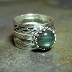 labradorite stacking rings set of 5 in sterling silver castle keep