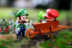 Mario sleeping after eating all of Luigi's tomatoes   #Nintendo #Figure #photography #Mario #Toy #VideoGames #gaming