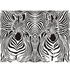 zebra pattern background vector
