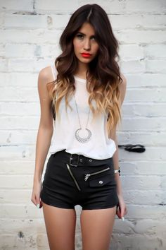 GETTING THIS OUTFIT PAYDAY!!!!! ♥ those shorts and that hair with the sexy pout...ugh!! lol