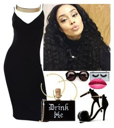 """New Years Party // Nicki"" by melaninmonroee ❤ liked on Polyvore featuring Michael Kors, Chase & Chloe, Charlotte Russe, POPbeauty and Wildfox"