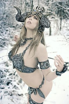 Winter Goddess cosplayed by Winter Kelly | Designer: Organic Armor | Photography by Winter Wolf Studios