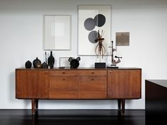 Mid-century furniture: Let's fall in love with the most amazing mid-century modern credenzas. With a mid-century design, this credenza will elevate your mid-century modern interior Mid Century Modern Living Room, Mid Century Modern Furniture, Midcentury Modern, Mid Century Modern Sideboard, Home Furniture, Furniture Design, Furniture Ideas, Vintage Furniture, Outside Furniture