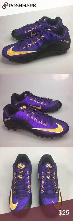detailed look 3c4c9 757f2 NIKE Alpha Pro Low TD Football Cleats Men s Sz 12 NIKE Alpha Pro Low TD  Football
