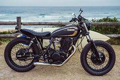 '85 Yamaha SR400 – Addiction Customs | Pipeburn.com