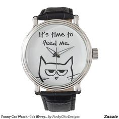 Funny watch - great guy gift. It's always time to feed the cat!