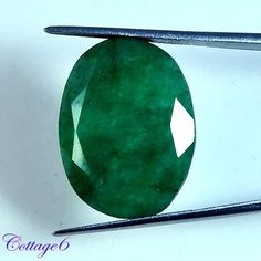 TOP RICH!! 24.00Cts. NATURAL GREEN EMERALD OVAL CUT NICE!! GEMSTONE BRAZIL #UNBRANDED