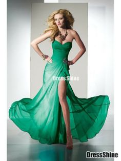 Bridesmaid Dresses Bridesmaid Dresses - green - slit