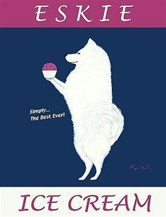 american eskimo dog art - Google Search