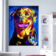 ROTTWEILER PRINT OIL PAINTING $89.95 https://thetopdogdeals.com/collections/rottweiler-zone/products/rottweiler-print-oil-painting