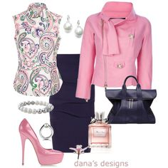 A fashion look from May 2013 featuring Jil Sander, blue skirt y pink pumps. Browse and shop related looks.