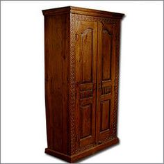 Carved Teak Armoire Moroccan Furniture, Teak Wood, Armoire, Carving, Home Decor, Clothes Stand, Closet, Reach In Closet, Wood Carving
