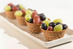 Grapes, Grapes and more Grapes!  Served in enJOY-a-bowls!  A healthy favor choice!