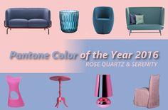 Our tribute to #Pantone #coloroftheyear2016 #rosequartz #blueserenity with our interior design products |  http://www.malfattistore.it/2016/01/le-nostre-proposte-di-design-con-i-colori-pantone-dellanno-2016/ #malfattistore #shoponline #furniture #madeinitaly #design