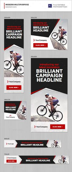 Modern Multipurpose Banner Ads Template PSD. Download here: http://graphicriver.net/item/modern-multipurpose-banner-ads/15941574?ref=ksioks