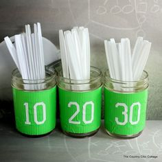 Easy DIY flatware holders for the big game!